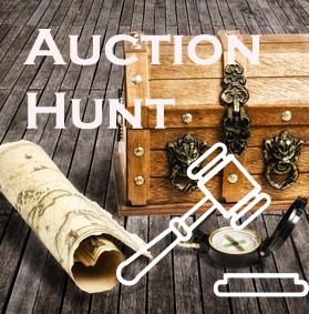 Auction hunt logo