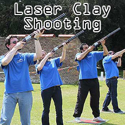 Laser Clay Shooting team building